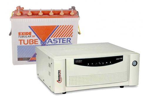 Microtek 1100VA and Exide Tube Master 150AH Combo set